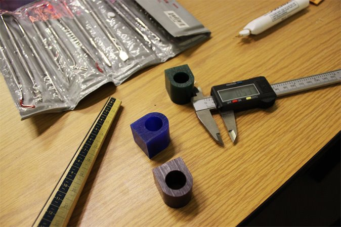 Bought wax ring blanks, carving tools, and ring mandrel