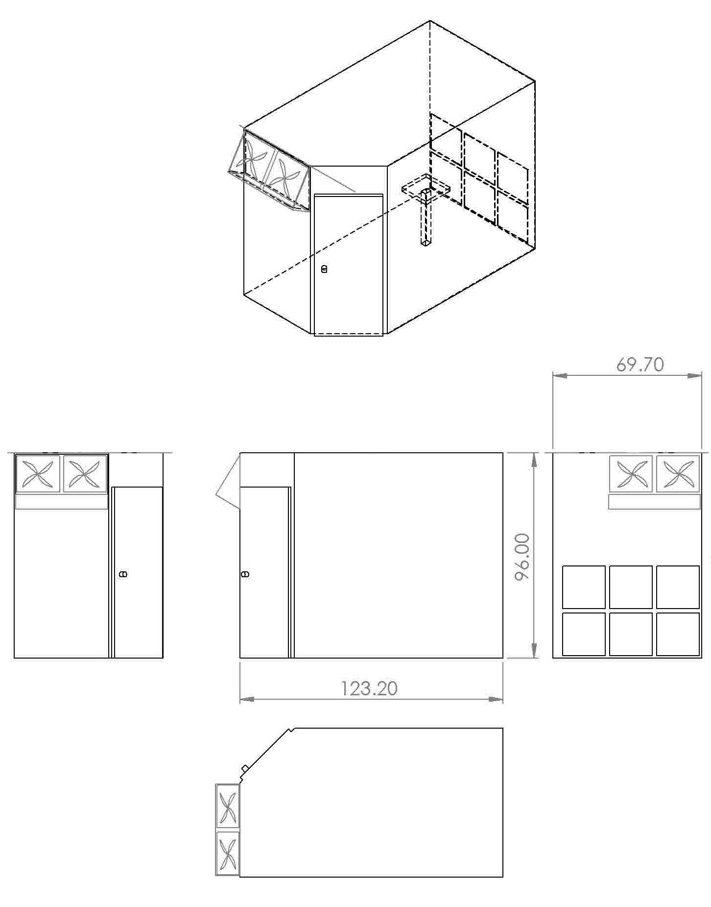 Plans for the paint booth