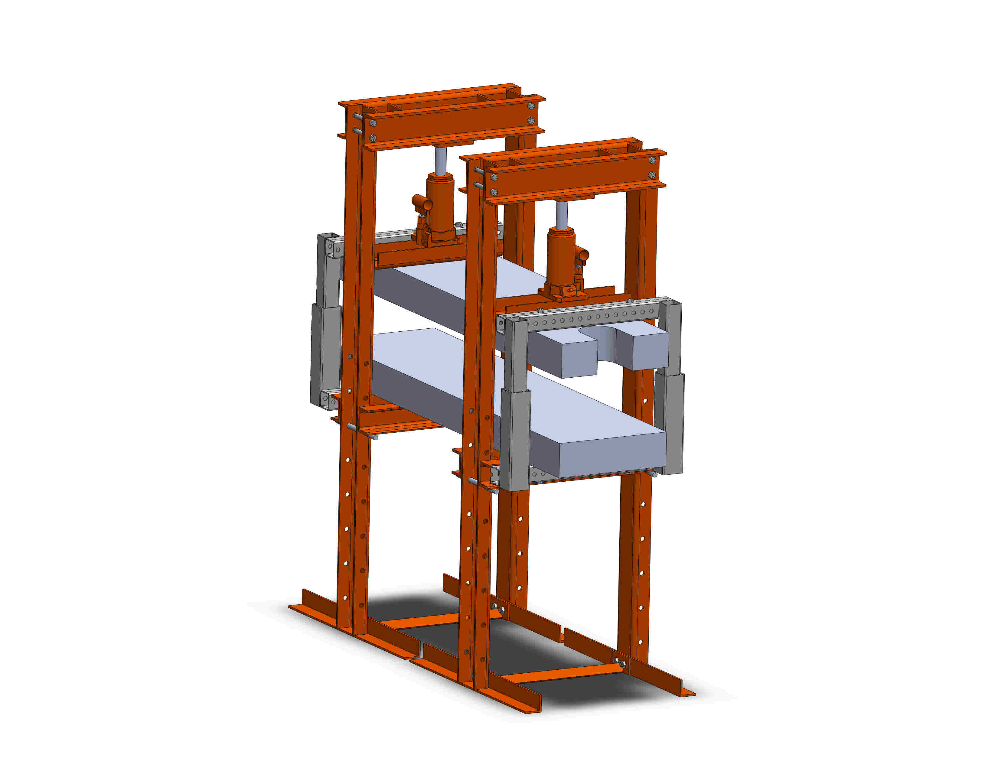 SolidWorks model of a complete presses and alignment system